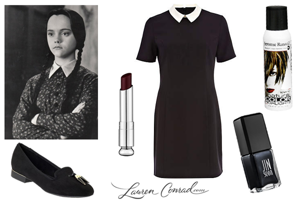 Wednesday Addams is a great costume because you can usually make it from items you have in your wardrobe. If you have light hair consider a temporary spray ...  sc 1 st  Lauren Conrad & Trick or Treat: 5 Last Minute Costume Ideas - Lauren Conrad