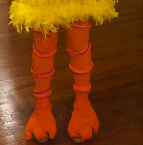 Find and save ideas about Big bird costume on Pinterest. | See more ideas about Big bird halloween costume, Big bird party costume and Big bird halloween ideas. Holidays and events Big Bird legs - orange duct tape over pink tights. Find this Pin and more on Howl-o-ween by Beth Schaffer.