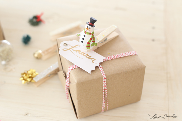 Holiday DIY: How to Make Clothespin Gift Tags