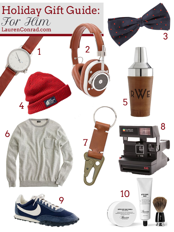 Holiday Gift Guide: For Him | LaurenConrad.com