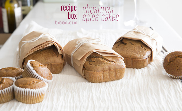 Recipe Box: Christmas Spice Cakes