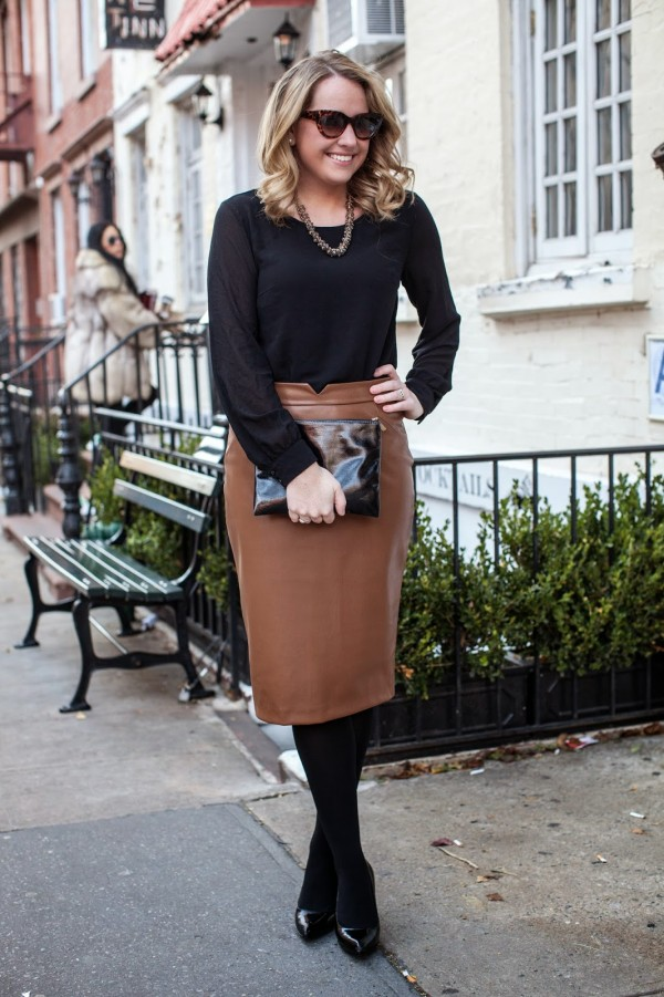 Chic of the Week: Kelsey's Fab Faux-Leather