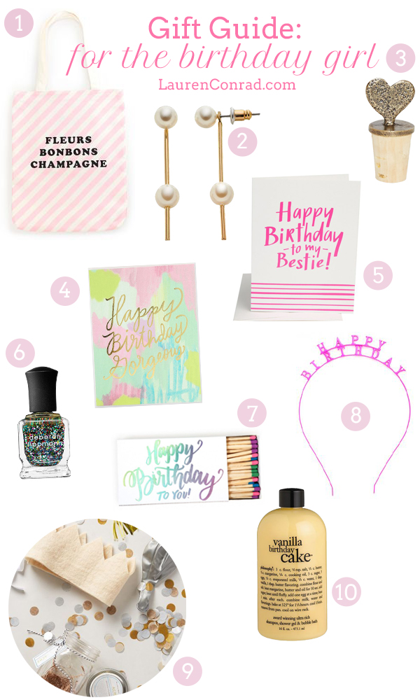 Gift Guide For The Birthday Girl