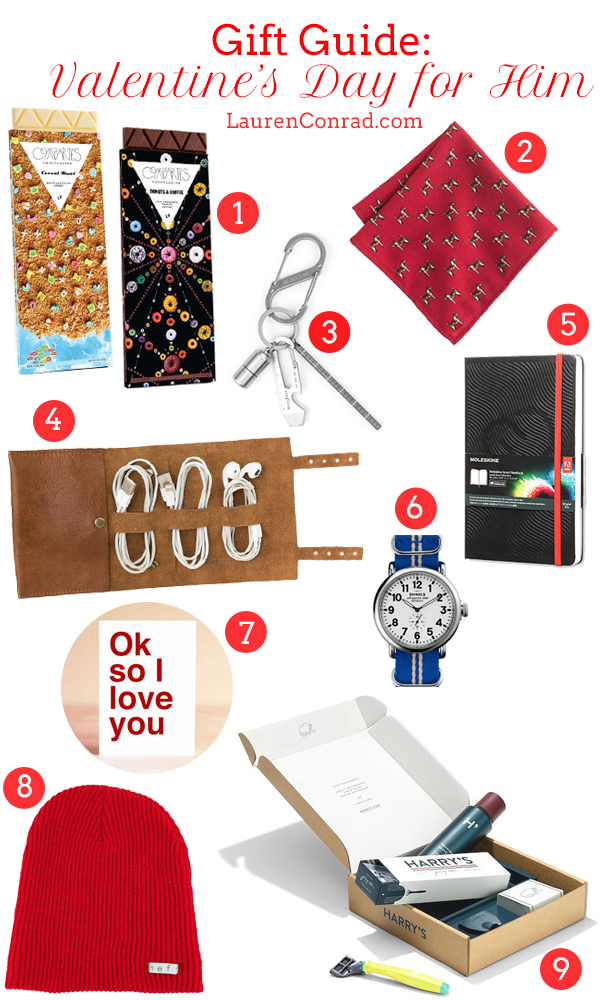 gift guide: valentine's day ideas for him - lauren conrad, Ideas