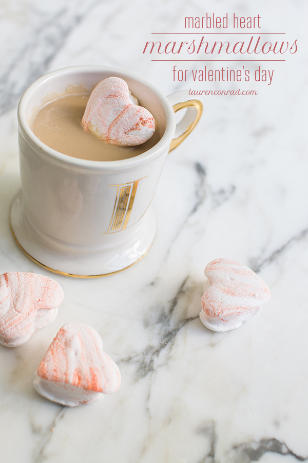 Cupid's Corner: Valentine's Day Marbled Heart Marshmallows {LaurenConrad.com}