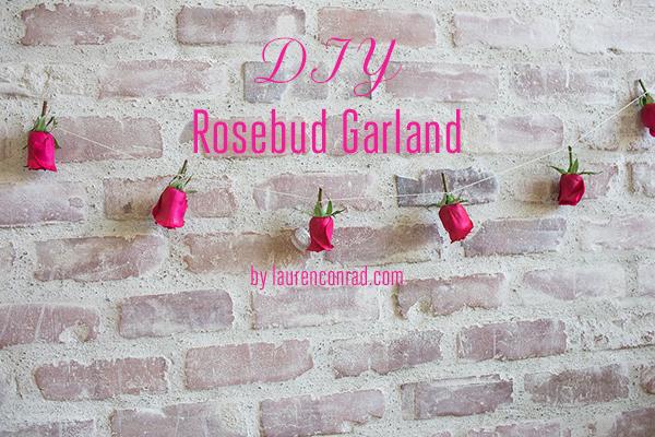 Inspired Idea: DIY Rosebud Garland