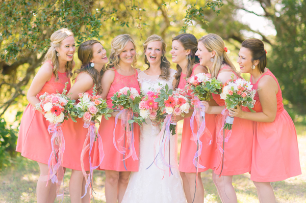 Chic of the Week: Celeste's Beaming Bridesmaids