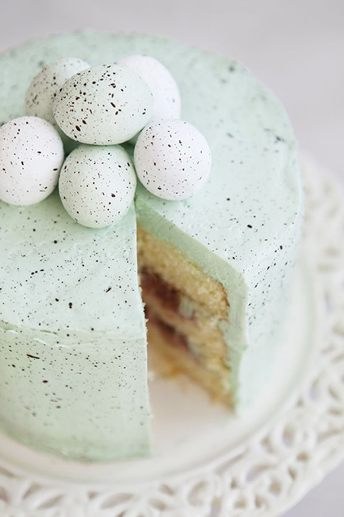 speckled egg liqueur cake