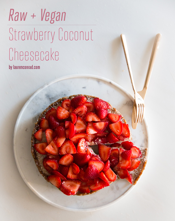 Recipe Box: Raw Vegan Strawberry Coconut Cheesecake | Lauren Conrad ...