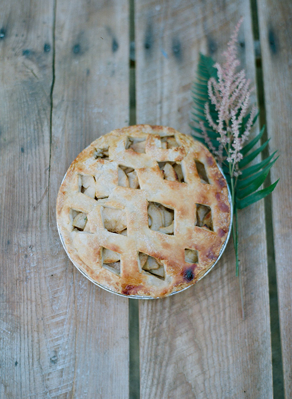 lauren conrad's wedding apple pie