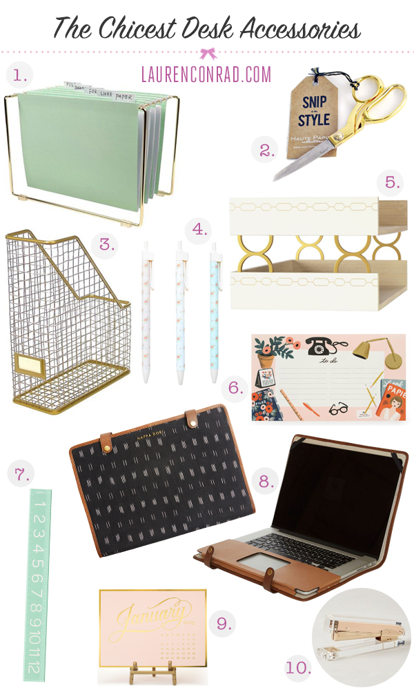 which items on my list will you be adding to your own desk