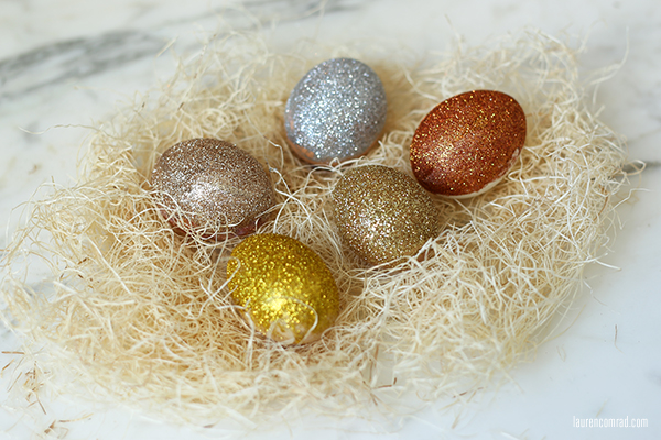 DIY: Pressed Flower and Ombre Glitter Easter Eggs