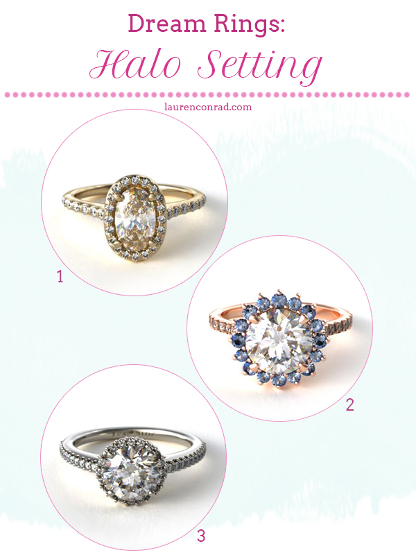Halo Setting Engagement Rings