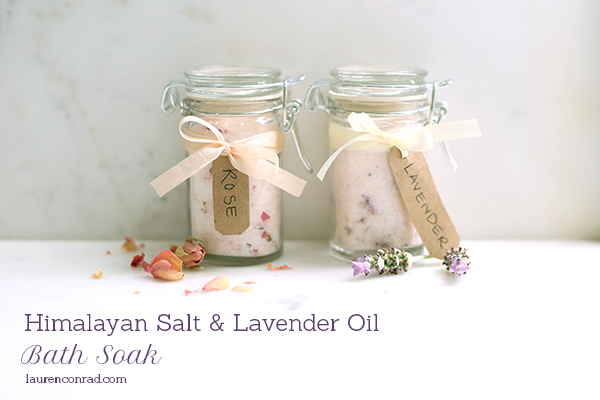 DIY Gift Guide: Himalayan Salt and Lavender Oil Bath Soak