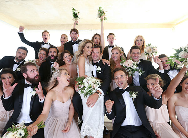 Lauren Conrad's bridesmaids and groomsmen.