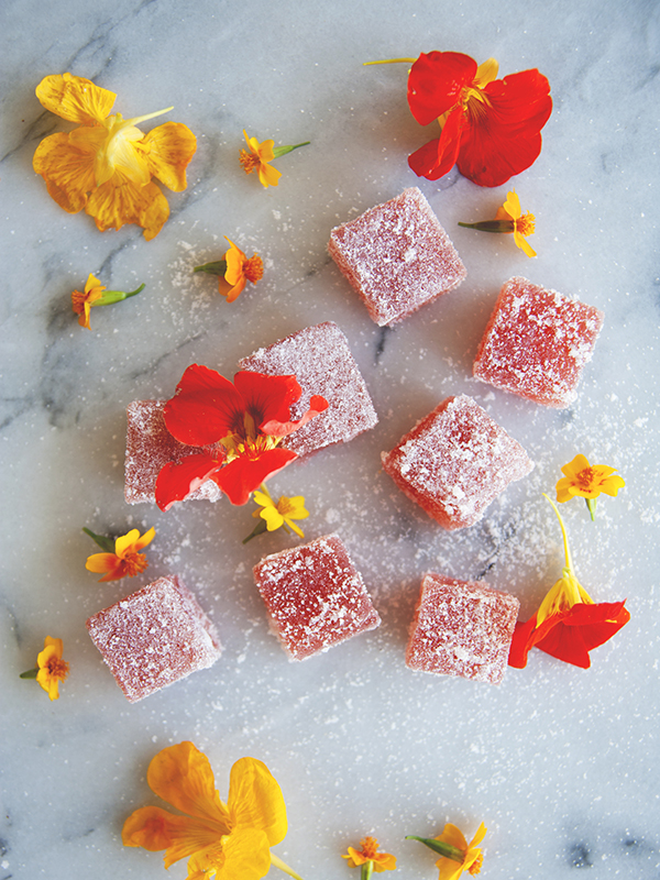 Strawberry Nasturtium Jellies {yum!}