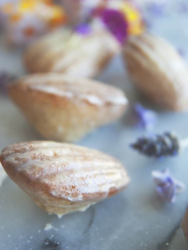 Lavender Earl Grey Madeleines {pretty & delicious}