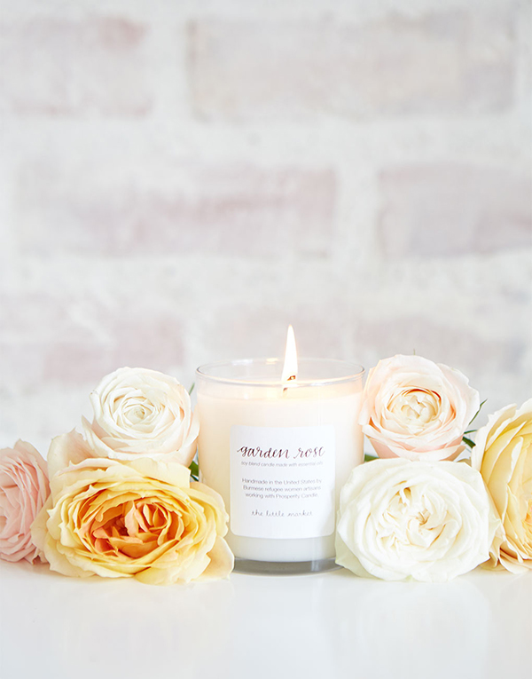 Garden Rose Candle {The Little Market}