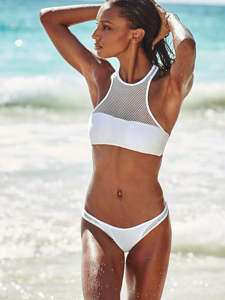 Victoria's Secret Mesh High-Next Bikini Top & Bottom.