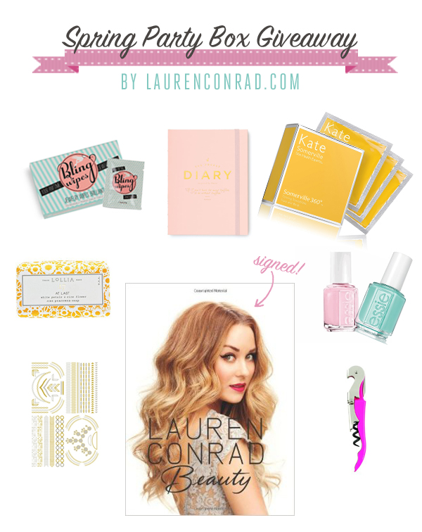 Spring Party Box Giveaway with LaurenConrad.com + Club W