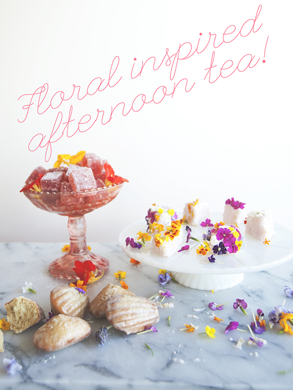 Edible Obsession: My Fair Lady Flower Tea Cakes