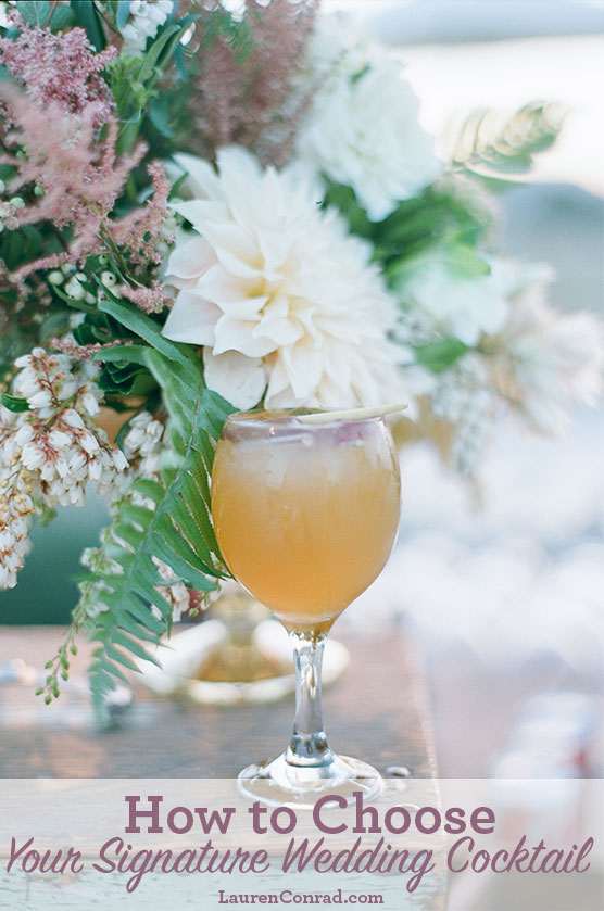 Wedding bells how to create your signature wedding drink lauren lauren conrads signature wedding cocktail apple of my eye junglespirit Choice Image