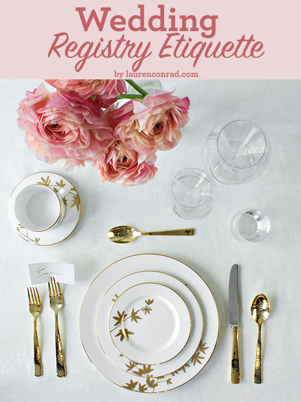 Wedding Registry Etiquette 101