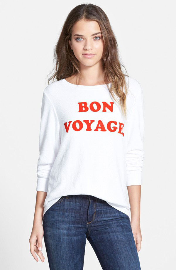 Wildfox 'Baggy Beach Jumper - See Ya' Pullover