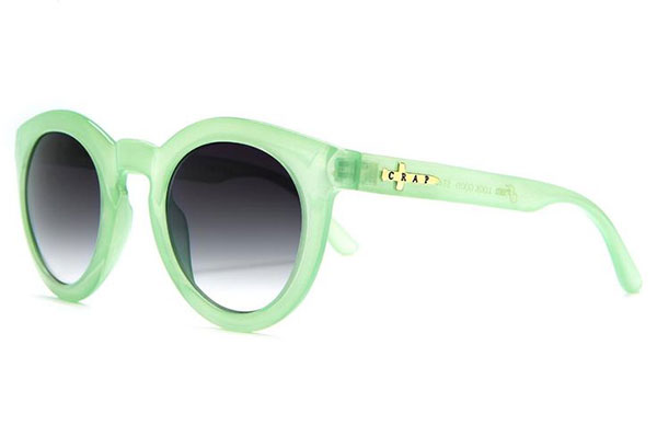 Crap Eyewear The T.V. Eye Sunglasses in Seafoam Green