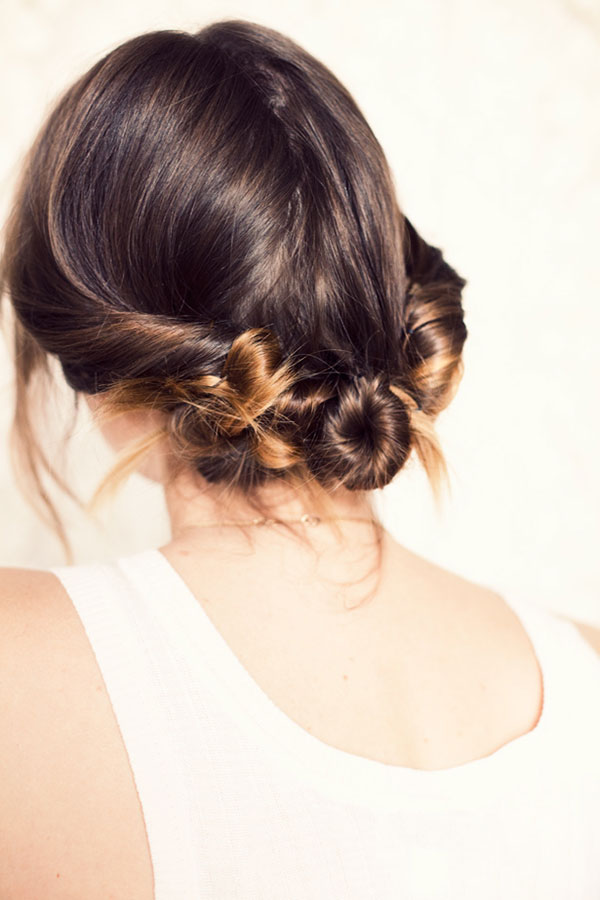 Three twisted buns {by A Cup of Jo}