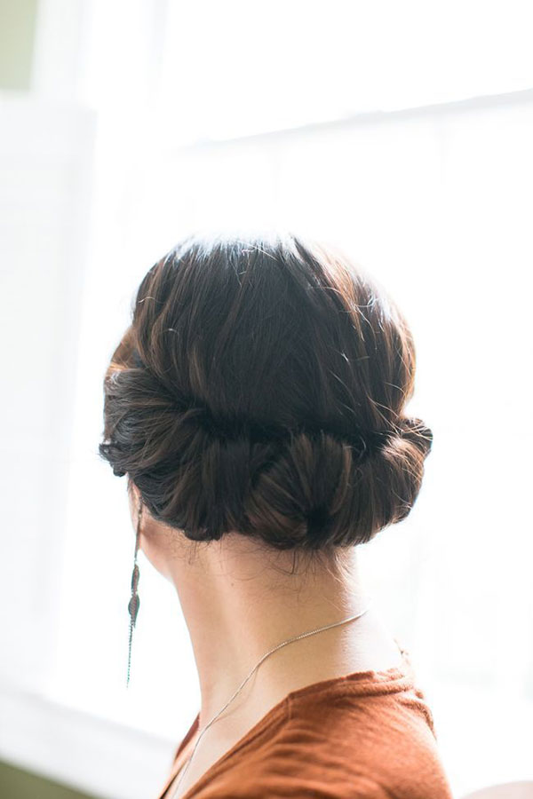 This headband tuck hairstyle is easier than it looks! {via Hello Natural}