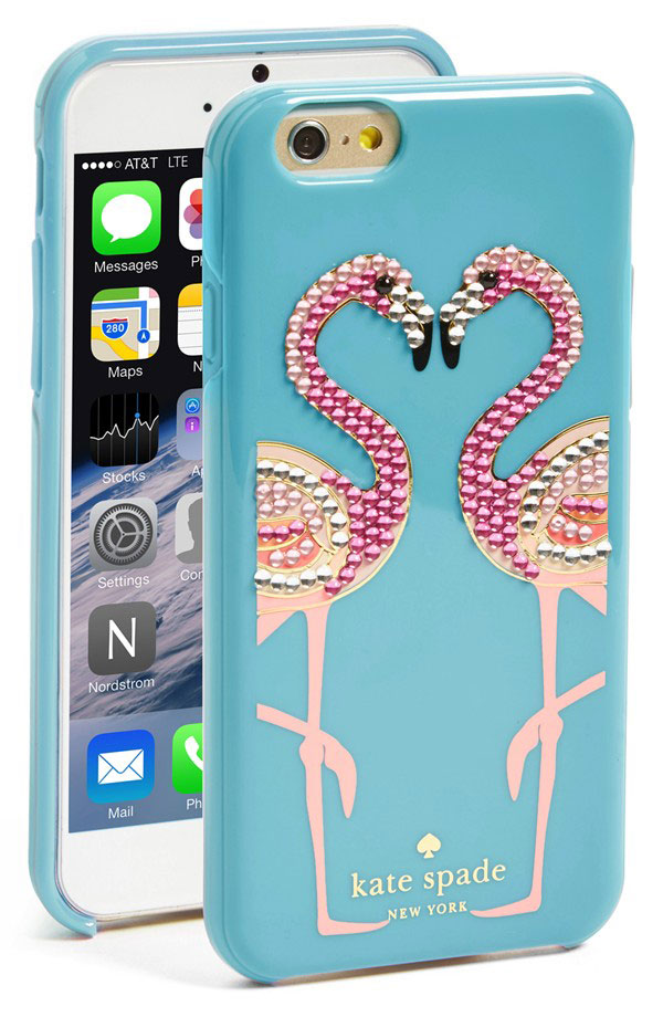Kate Spade New York Flamingo iPhone Case.