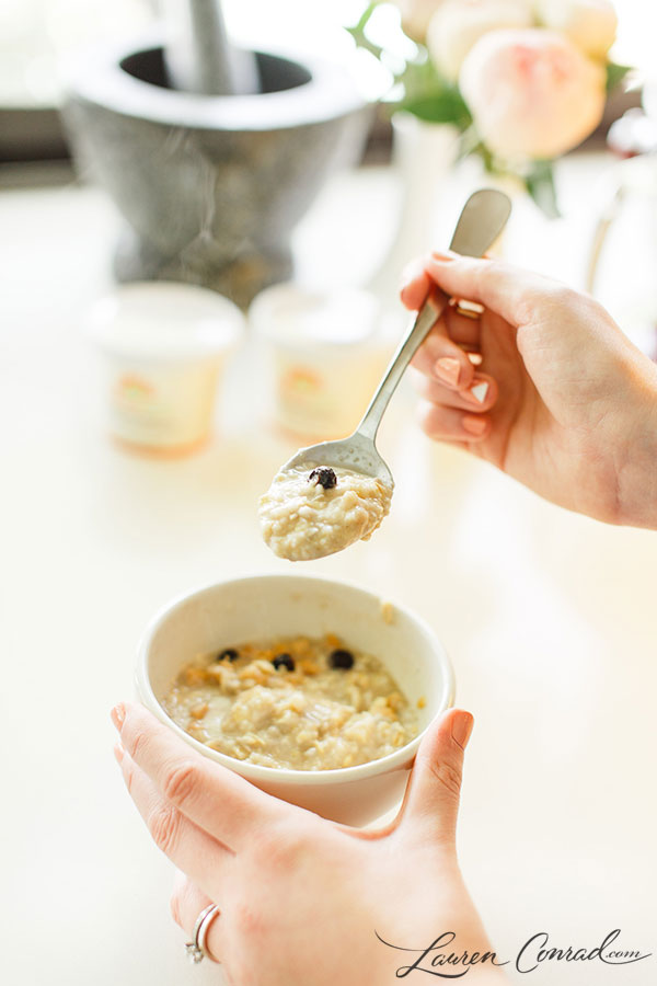 Blueberry, Apple & Sunflower Seed Oatmeal {from NatureBox}