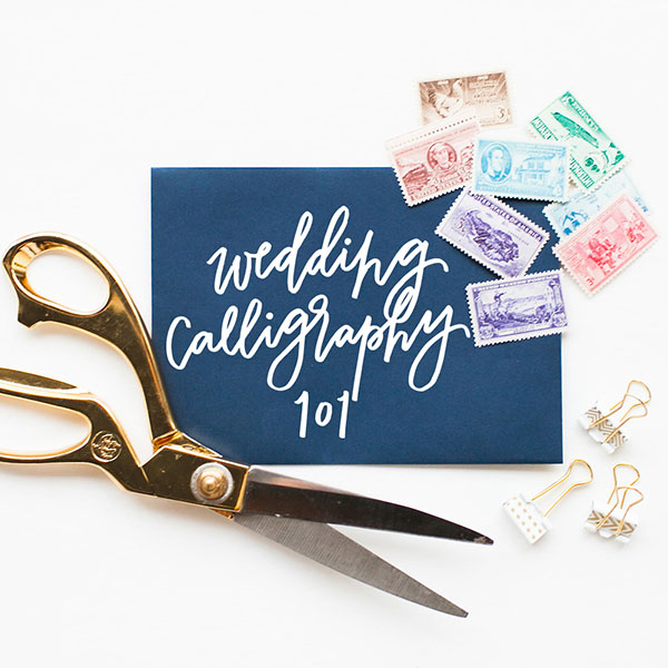 Wedding Calligraphy 101 with POPPYjack SHOP