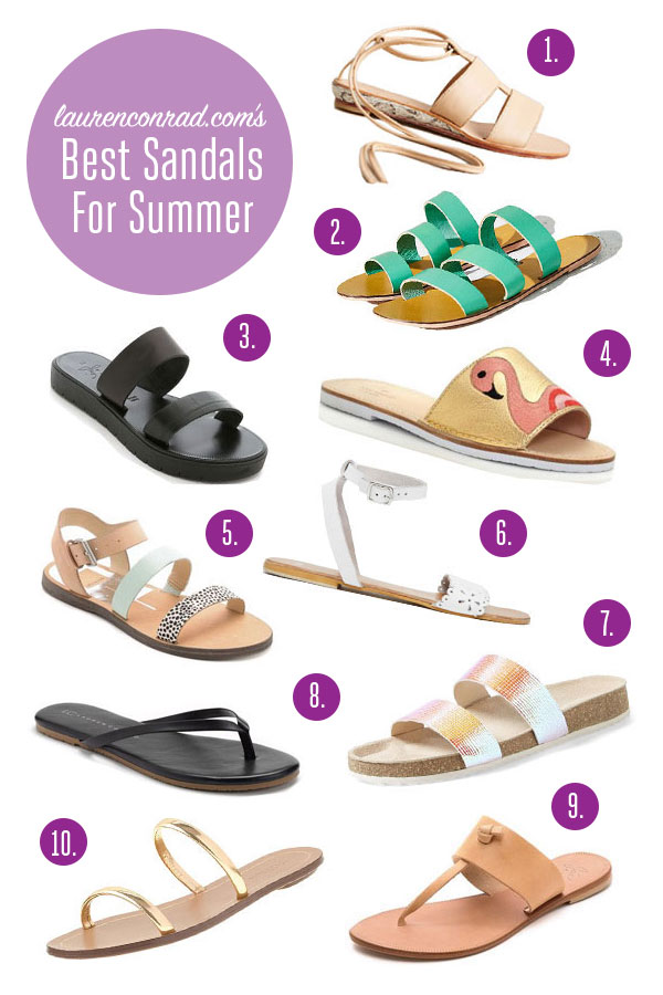 94f0c0f3321f Style Guide  The Best Sandals For Summer - Lauren Conrad
