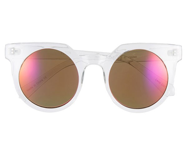 Tildon 45mm Mirrored Cat Eye Sunglasses