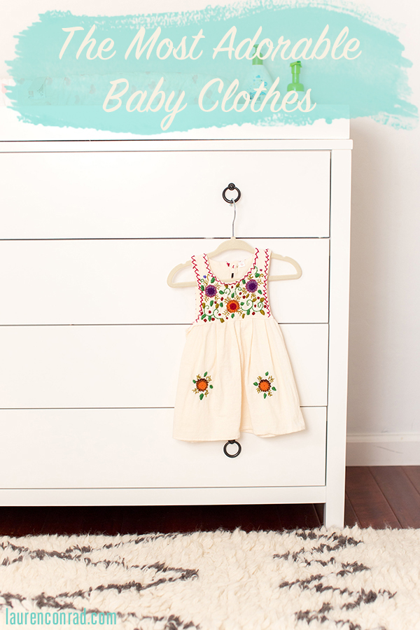 A roundup of the most adorable baby clothes!