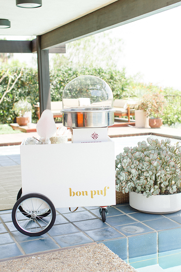The Bon Puf Cotton Candy cart!