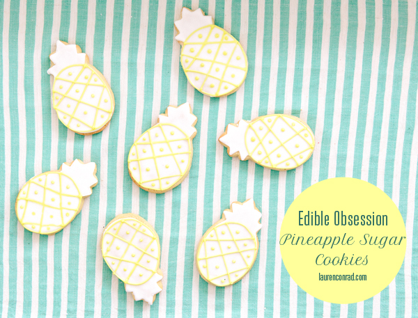 Edible Obsession: Pineapple Sugar Cookies