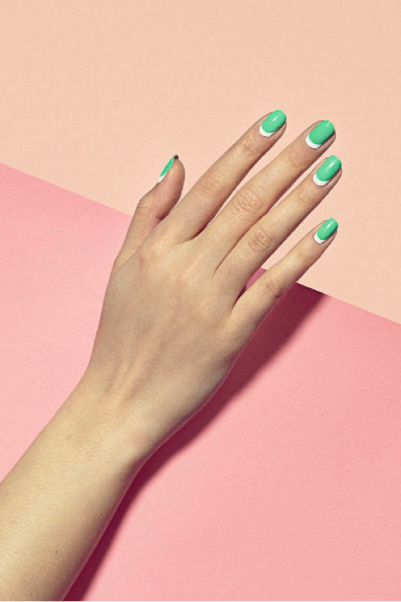 Favorite Trend {this gorgeous half moon mani by PaintBox}