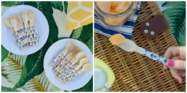 Picnic utensils with a splash of personality!