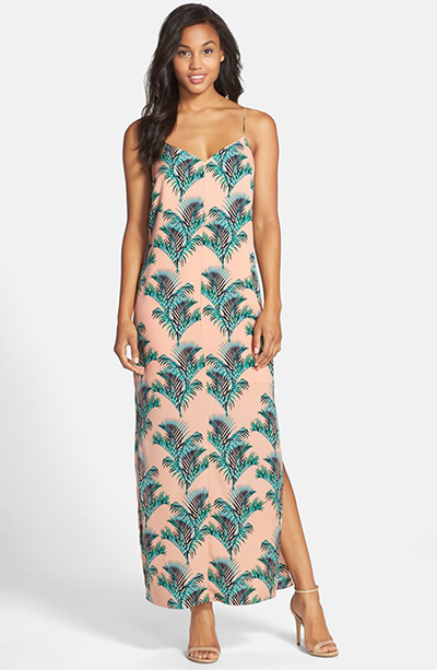 CeCe by Cynthia Steffe Crepe de Chine Maxi Dress