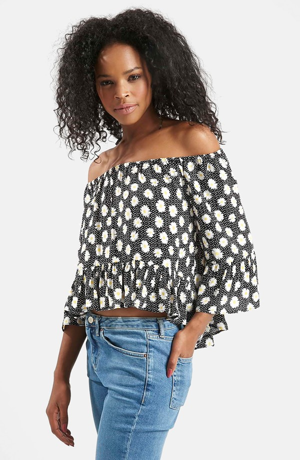 Topshop Daisy Off The Shoulder Top