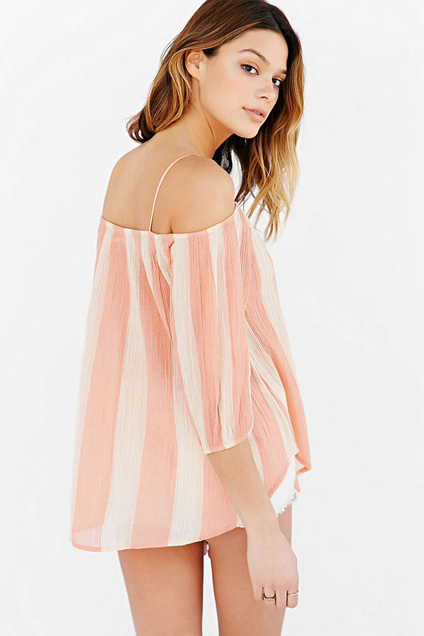 Urban Outfitters Kimchi Blue Awning Cold Shoulder Top,