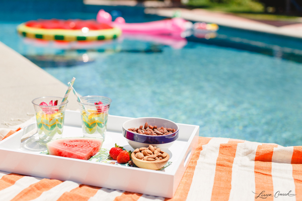 Poolside snacks on a hot day.