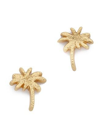 Gorjana Palm Tree Stud Earrings