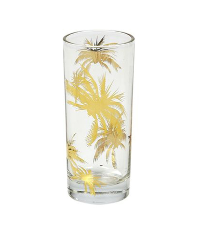 Tinsley Mortimer Highball Palm Tree Glass