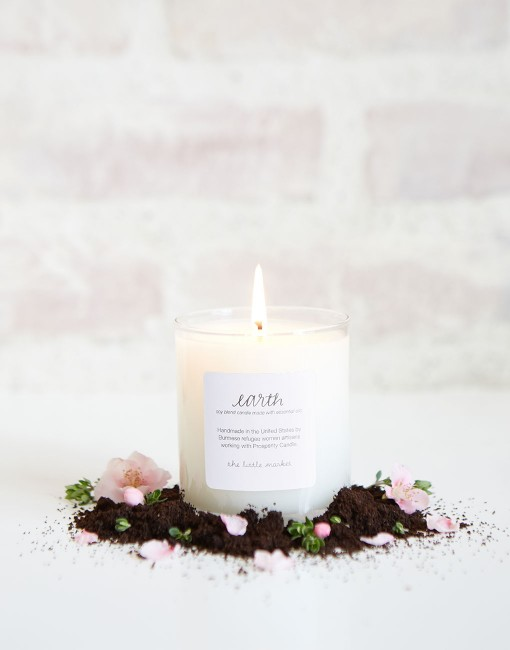 Favorite scent - Earth scented candle from The Little Market