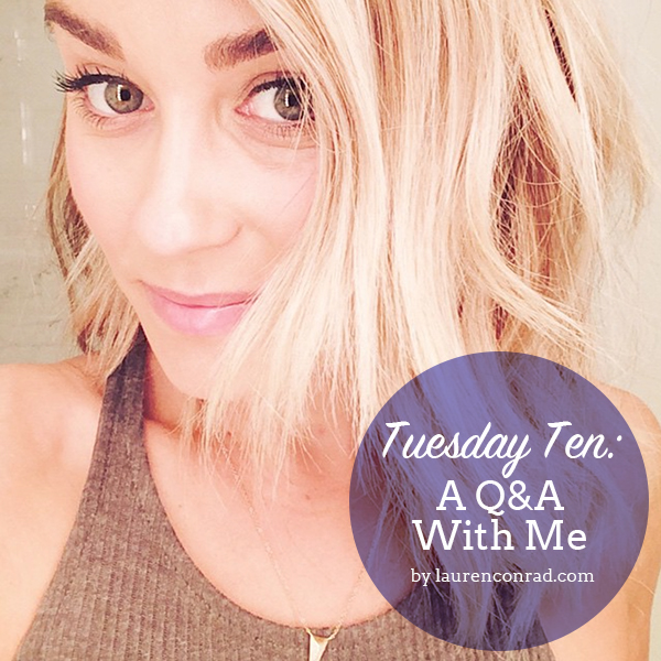 Tuesday Ten: A Q&A With Me!