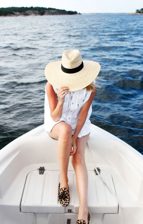 A Floppy Sunhat via Lauren Nelson